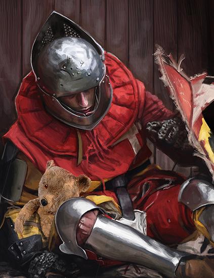 knight with bear